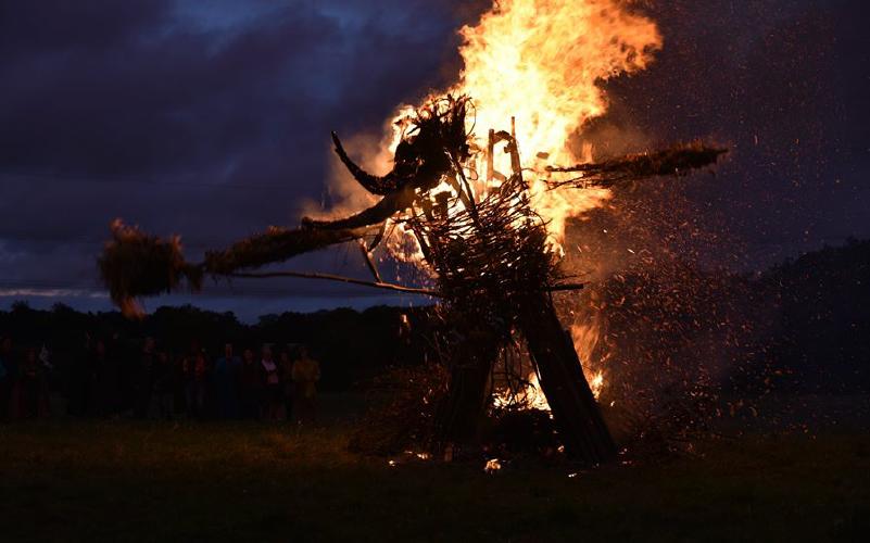 การเผาหุ่นจากเทศกาล Mercian Gathering