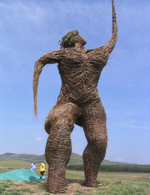 หุ่น Wickerman จากเทศกาล Wickerman Festival