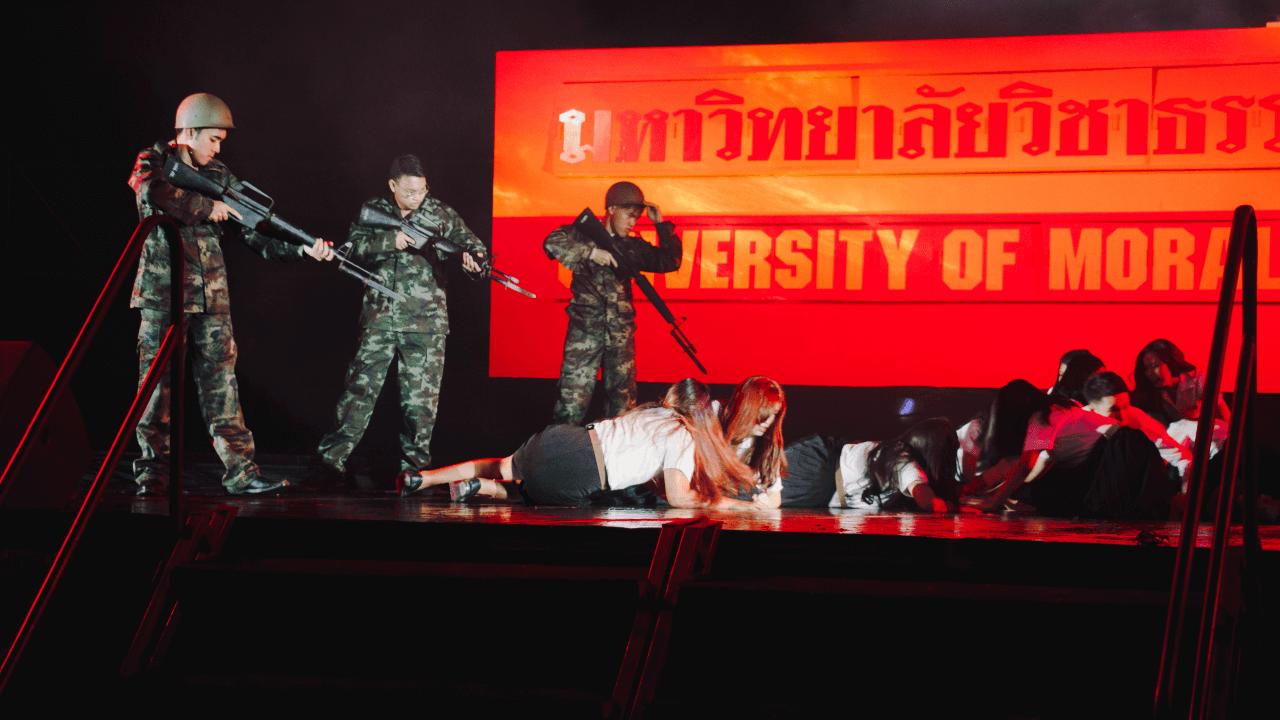 ย้อนประวัติศาสตร์การเมืองไทยฉบับที่มีผู้ร้ายและคนดี ในละครการเมืองธรรมศาสตร์ สำหรับเด็กปี 1