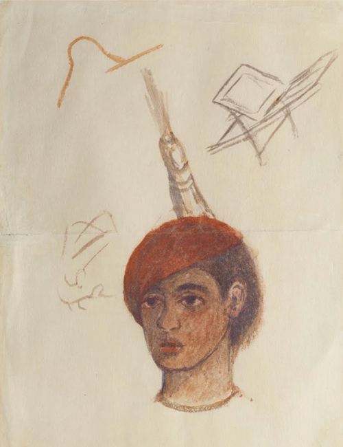 Self-portrait with Red Cap (1932)