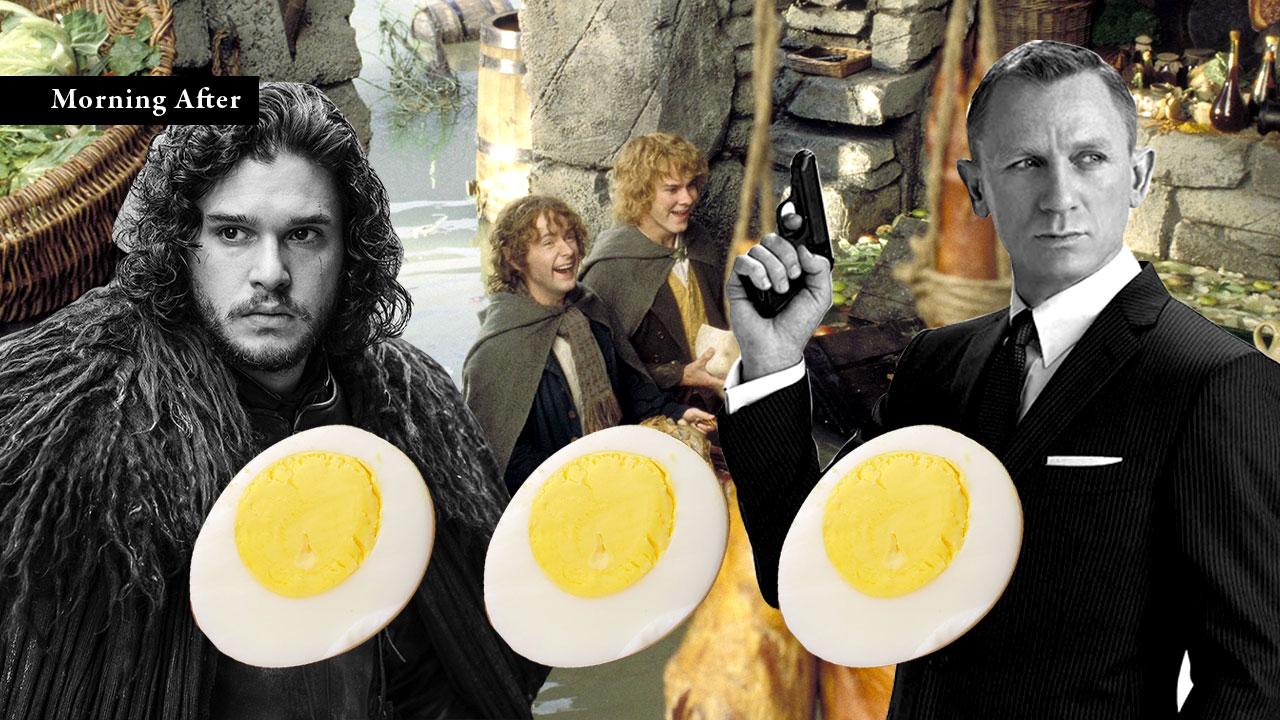 อาหารเช้าในงานวรรณกรรม:ไข่ต้มของ จอน สโนว์, กาแฟดำของ เจมส์ บอนด์ และอาหารเช้ามื้อที่สองของฮอบบิท